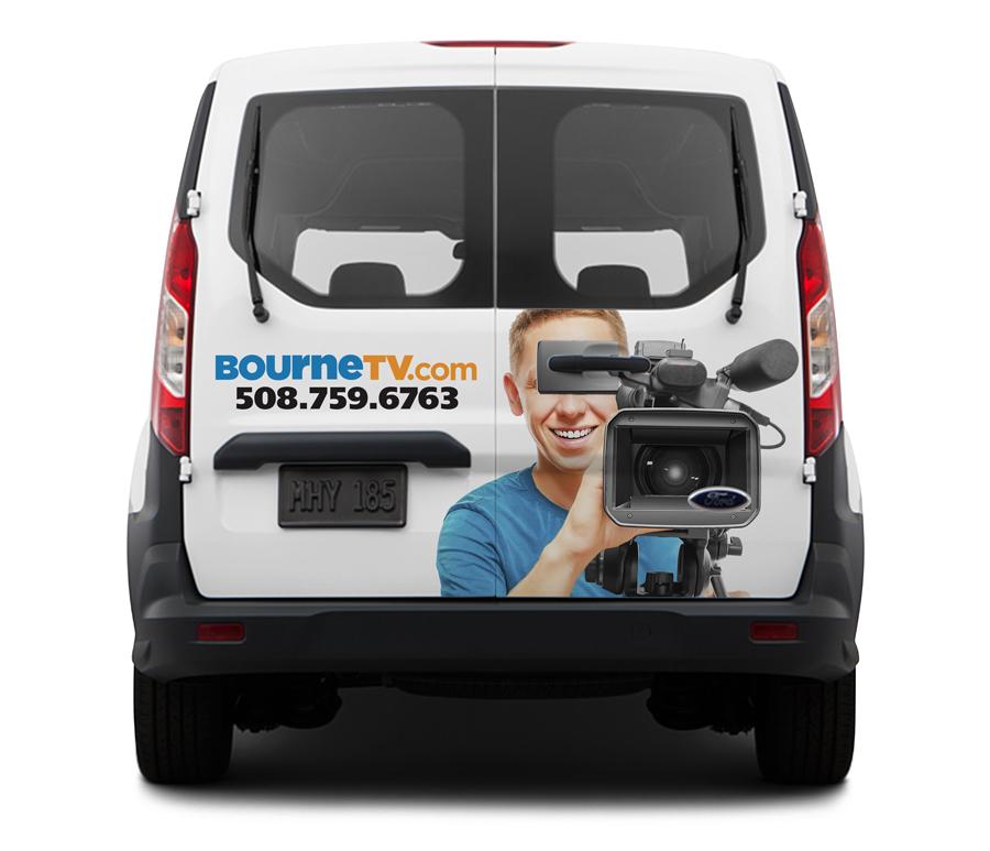 Bourne TV vehicle wrap