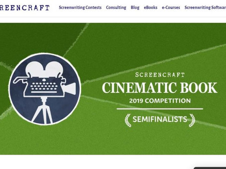 Semi-finalist Screencraft Cinematic Book Contest