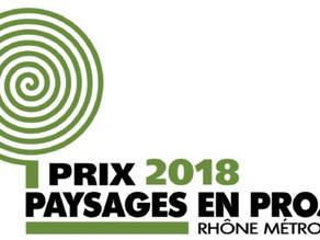 Lauréat prix PAYSAGES EN PROJET 2018.