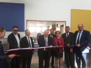 23 mars 2019 : Inauguration du restaurant du groupe scolaire Jules Verne à Chazay d'Azergues.