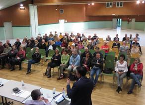 Réunion publique PLU de Ceyzériat, (Agglomération de Bourg-en-Bresse, Ain)