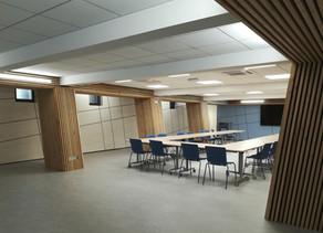 Livraison : Salle de réunion pour le Syndicat des eaux à Anse (69). Bureaux du groupe SUEZ.