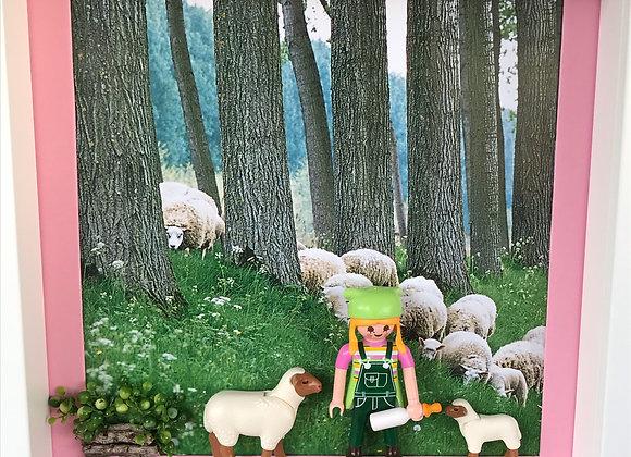 La fermière et les moutons