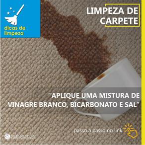 DICA DE LIMPEZA: Tirar manchas do carpete