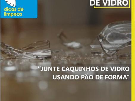 Dica de Limpeza: pão de forma para limpar caquinhos de vidro