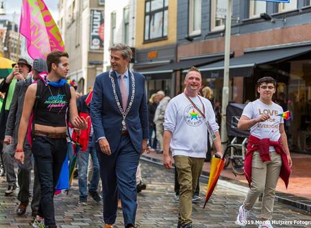 Dordrecht Pride-voorzitter Lennart Lenskens in Gaykrant100