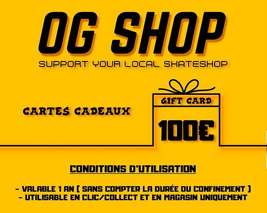 CARTES CADEAUX 100€