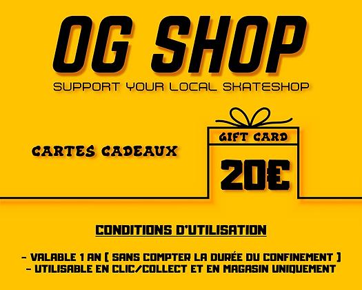 CARTES CADEAUX 20€