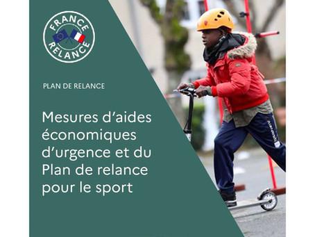 Mesures d'aides d'urgences et du plan de relance pour le sport