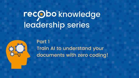 Recobo knowledge leadership series Part 1