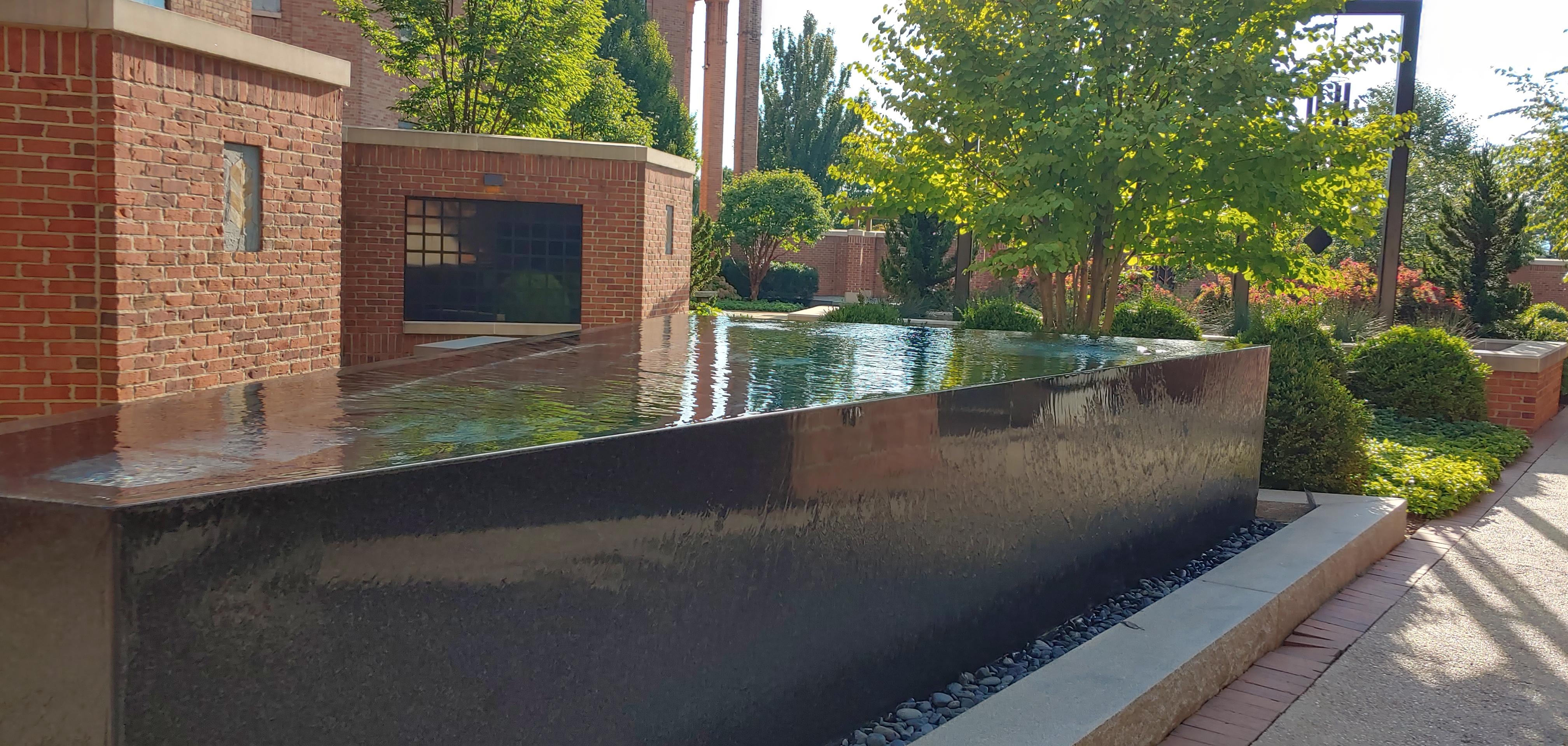custom granite water feature