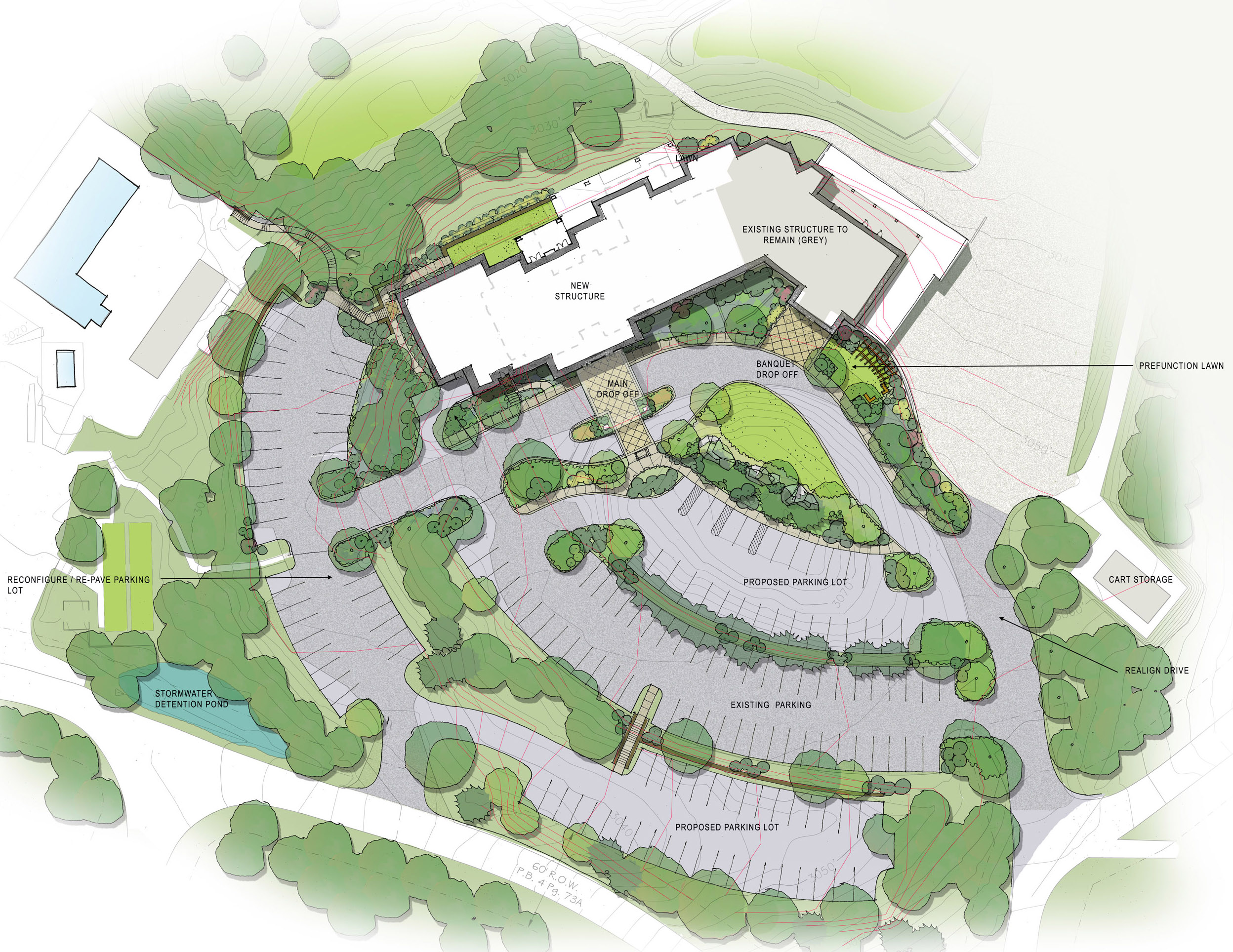 Connestee Falls Clubhouse Site Plan