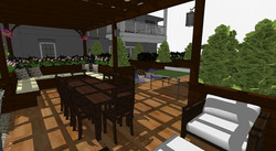 Roof top terrace with seating