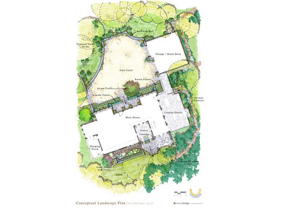 Cliffs Valley Residence Site Plan