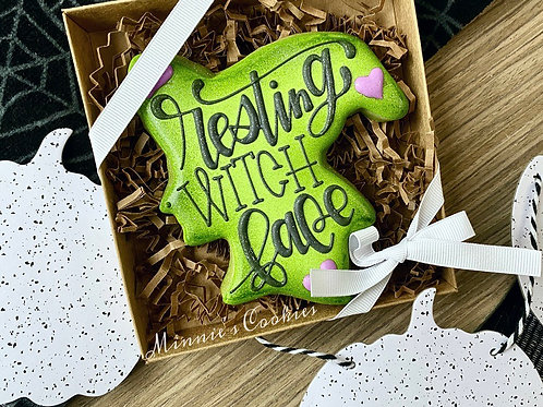 Resting Witch Face cookie