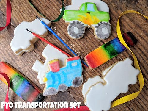 PYO Transportation cookie set