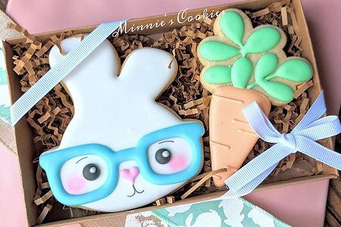 Hipster boy bunny & carrot set