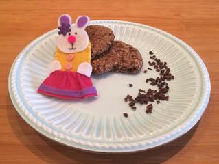 Cookies de páscoa sem leite e sem ovo.
