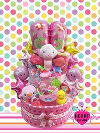男の子用おむつケーキ ダンボ おもちゃモリモリ おむつケーキ
