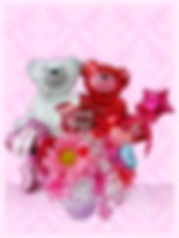 結婚のお祝いに ウェルカムボードの飾りに 結婚プレゼント バルーンアレンジ クマちゃん