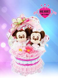 結婚祝い ウェディングタオルケーキ ミッキー&ミニー オリジナル