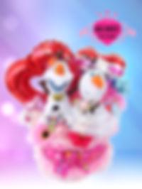 結婚祝い ウェディングタオルケーキ オラフ アナ雪 オリジナル ディズニー