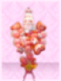 結婚のお祝い バルーンスタンド ピンク