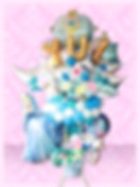 シンデレラ バルーンスタンド バースデープレゼント バースデー 名前入り オリジナル ハートブレンダ