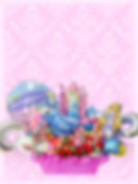 開店のお祝い バルーンアレンジ キャンディ入り オリジナル プリンセス
