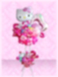 バースデープレゼント キティバルーンスタンド 可愛い ハート ピンク