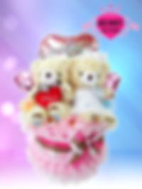 結婚祝い ウェディングタオルケーキ クマ オリジナル