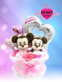 結婚祝い ウェディングタオルケーキ ミッキーミニー オリジナル ディズニー