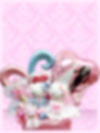 結婚のお祝いに ウェルカムボードの飾りに 結婚プレゼント バルーンアレンジ キティ ダニエル キティちゃん好き