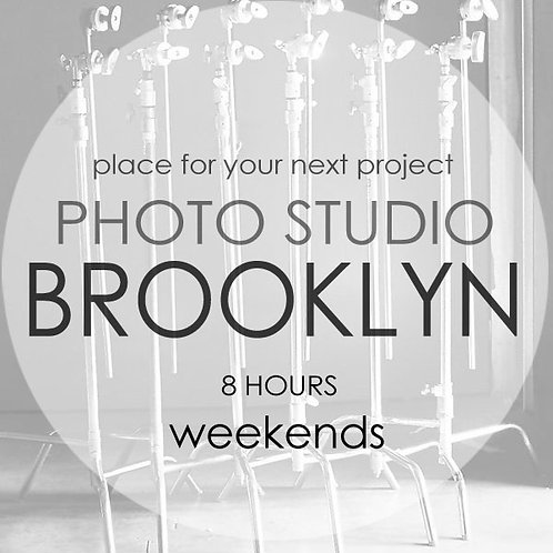 STUDIO SPACE 8 HOURS WEEKENDS