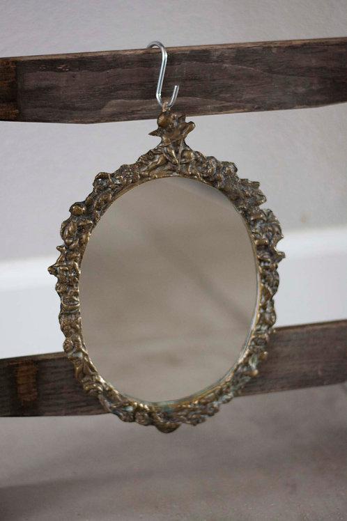 Vintage messing spiegel
