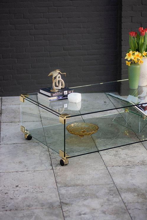 Glazen Hollywood Regency salontafel