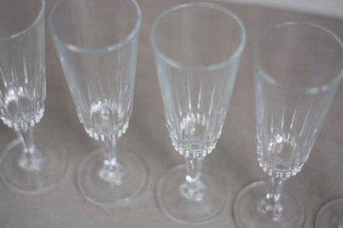 6 kristallen champagne glazen
