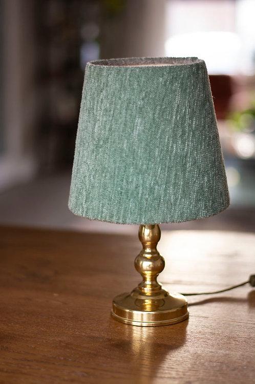 Goudkleurig lampje met groen velvet kapje