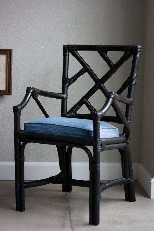 Zwarte bamboe stoel