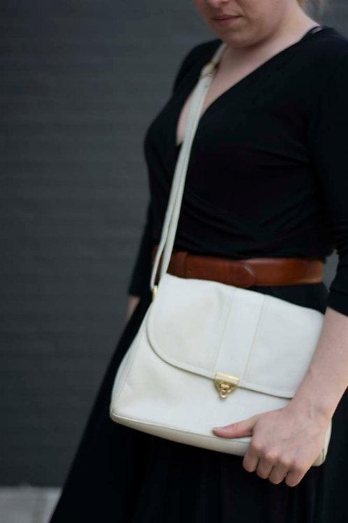 Witte vintage tas