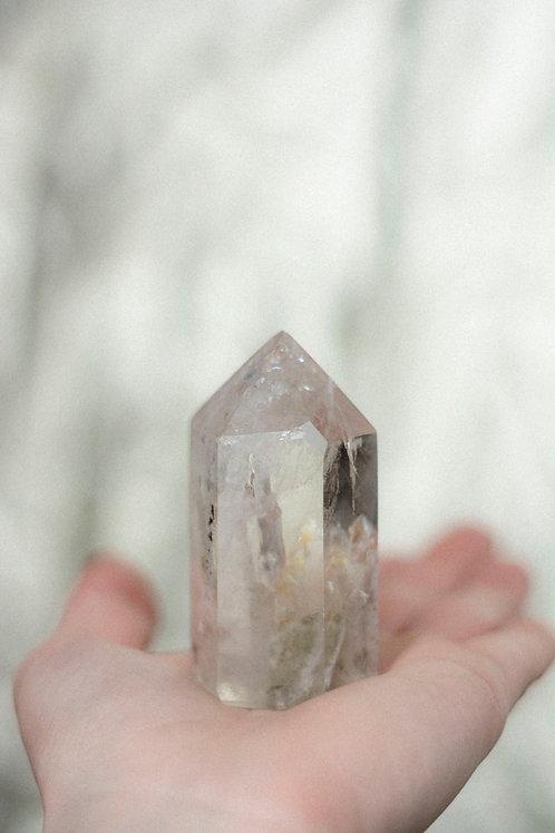 Geslepen bergkristal punt
