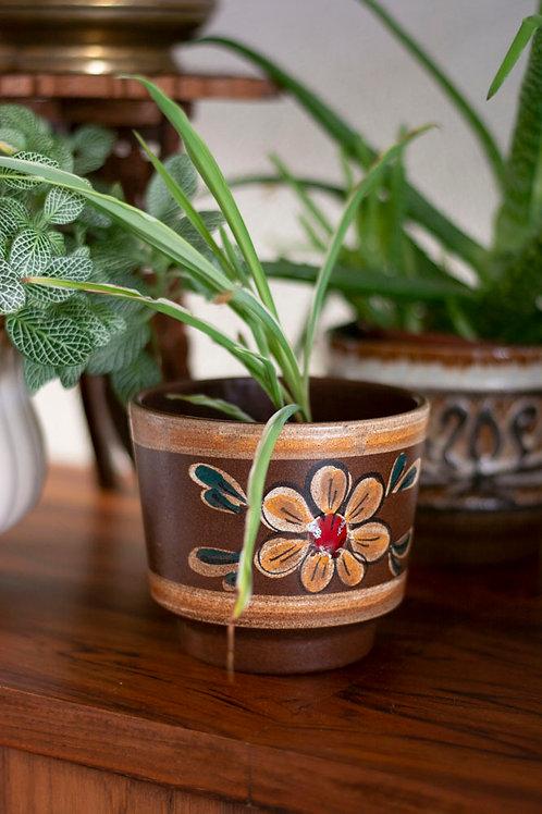 Vintage bloempot bloem