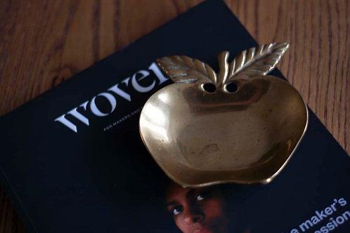 Messing schaaltje appel
