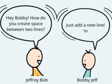Add a new line!