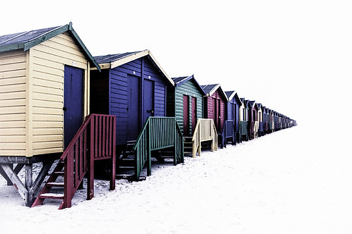 beach huts muizenberg cape town south africa colour beach art gallery fine prints photo photography suzanne porter