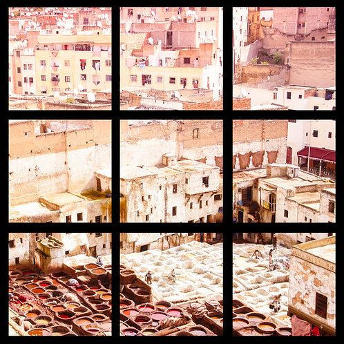 the tanneries, fes