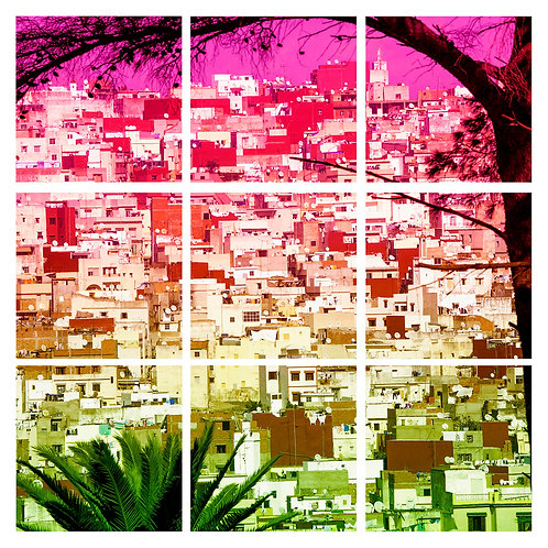 tangiers tanger city view photograph art print suzanne porter colour contemporary morocco view moroccan africa african