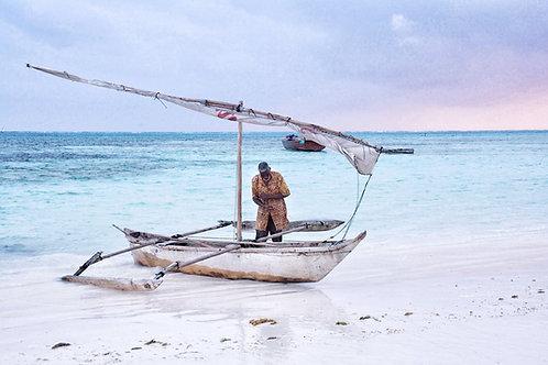 zanzibar travel scene deco photography tranquil blue hue sunrise fishing calm zen landscape africa african suzanne porter