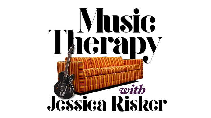 MUSIC THERAPY PODCAST ICON MUG PROOF - black guitar and couch and text transparent wix_edi