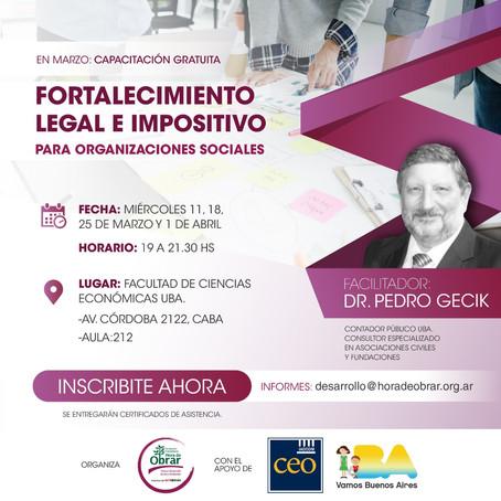 Hora de Obrar lanza una nueva capacitación gratuita para organizaciones sociales
